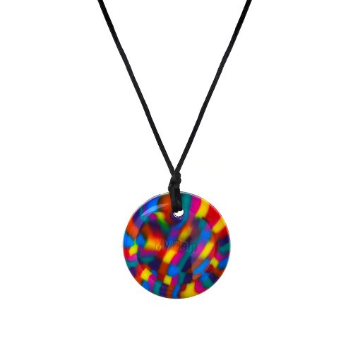 Chewigem rainbow disc necklace